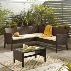 Gobi Brown 4 Seat Corner Sofa Set