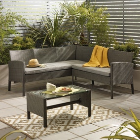 Gobi Grey 4 Seat Corner Sofa Set