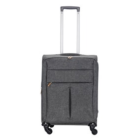 Lightweight Grey 22 Inch Suitcase