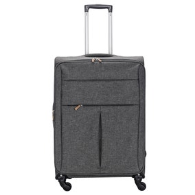Lightweight Grey 26 Inch Suitcase