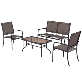 Oslo Bronze 4 Seat Conversation Set