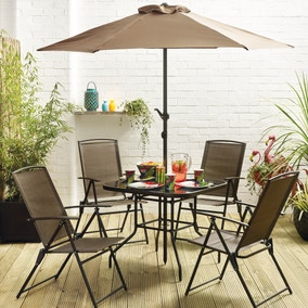 Oslo Bronze 4 Seat Dining Set