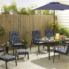 Hampton Navy 11 Piece Dining Set