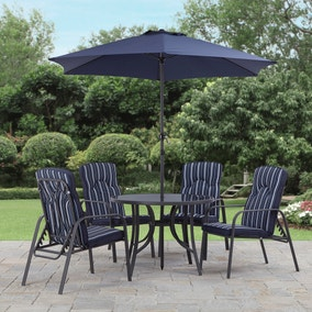 Hampton Navy 4 Seat Dining Set