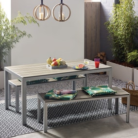 LA Grey Bench Set