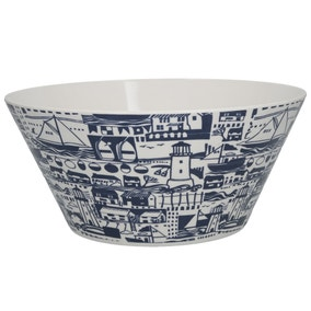 Nautical Melamine Salad Bowl
