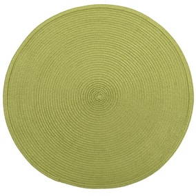Set of 2 Lime Woven Vinyl Placemats