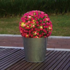 Light Up Topiary Rose Ball