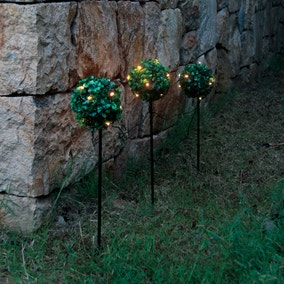 Light Up Topiary Stake Balls