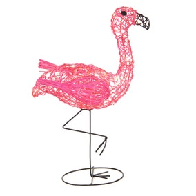 Wicker Flamingo Light