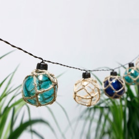 Set of 10 Nautical Bauble String Lights