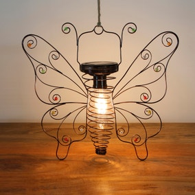 Bronze Butterfly Hanging Filament Lght
