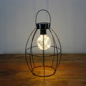 Gun Metal Wire Solar Powered Lantern