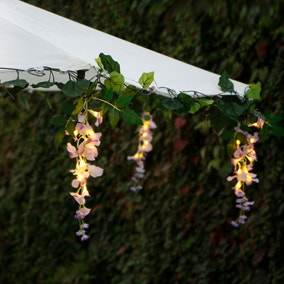 Set of 60 Wisteria Floral LED String Lights