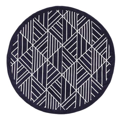 Round Geometric Towel