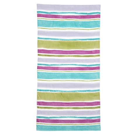 Impressionist Striped Beach Towel
