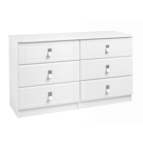 Dolce White 6 Drawer Wide Chest