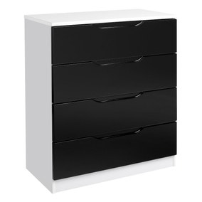 Legato Black and White 4 Drawer Chest