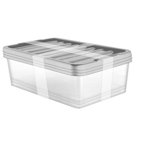 Pack of 3 32 Litre Silver Underbed Storage Boxes