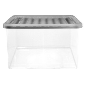 27 Litre Storage Box with Silver Lid