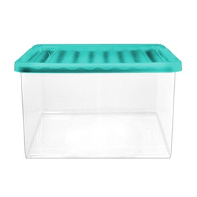 27 Litre Storage Box with Teal Lid
