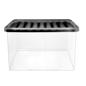 27 Litre Storage Box with Black Lid