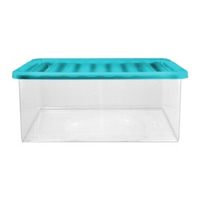 45 Litre Storage Box with Teal Lid