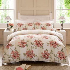 Twiggy Ivy 100% Cotton Reversible Duvet Cover and Pillowcase Set