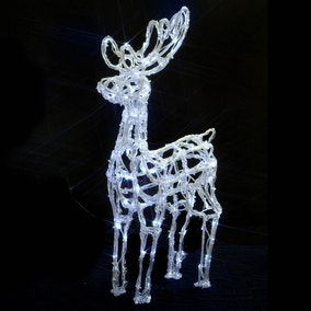 72cm Acrylic Standing Reindeer With 120 LEDs