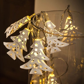 10 Filigree Tree String Lights in Warm White