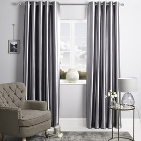 Zephy Silver Eyelet Curtains