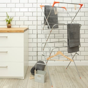 Energise 3 Tier Metal Orange Airer