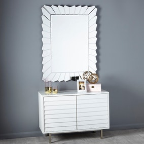 Over Mantel Deco Edge Mirror