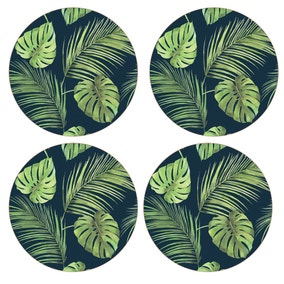 Calypso Pack of 4 Green Placemats
