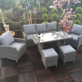 Royal Craft Windsor 7 Seater Sofa Dining Set