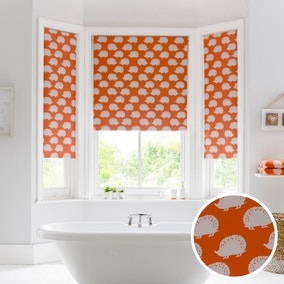 Hedgehog Moisture Resistant Orange Roller Blind