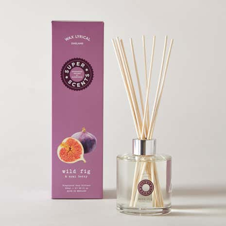 Wax Lyrical Superscents Collection Wild Fig and Acai 200ml Reed Diffuser