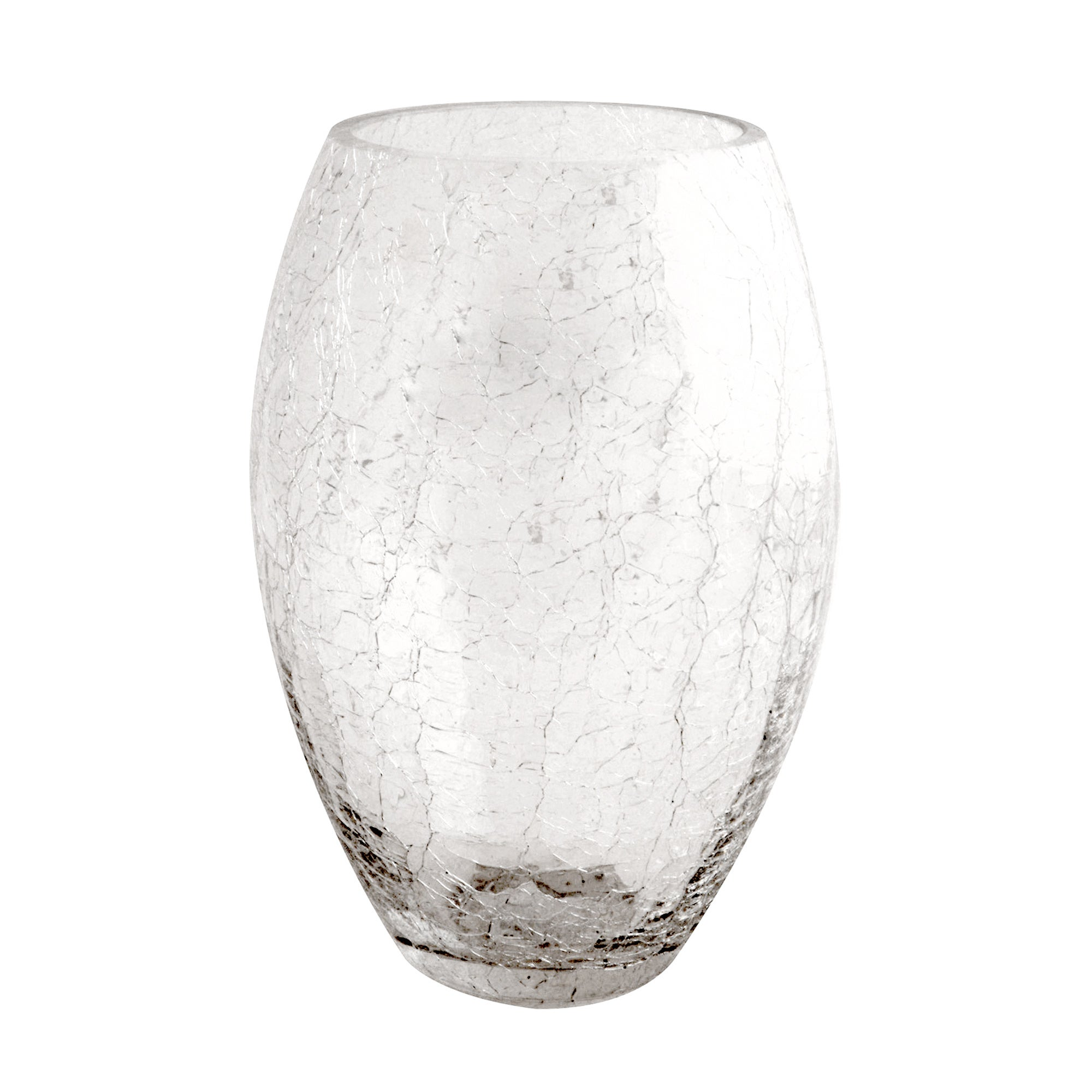 Photo of Crackle glass vase clear