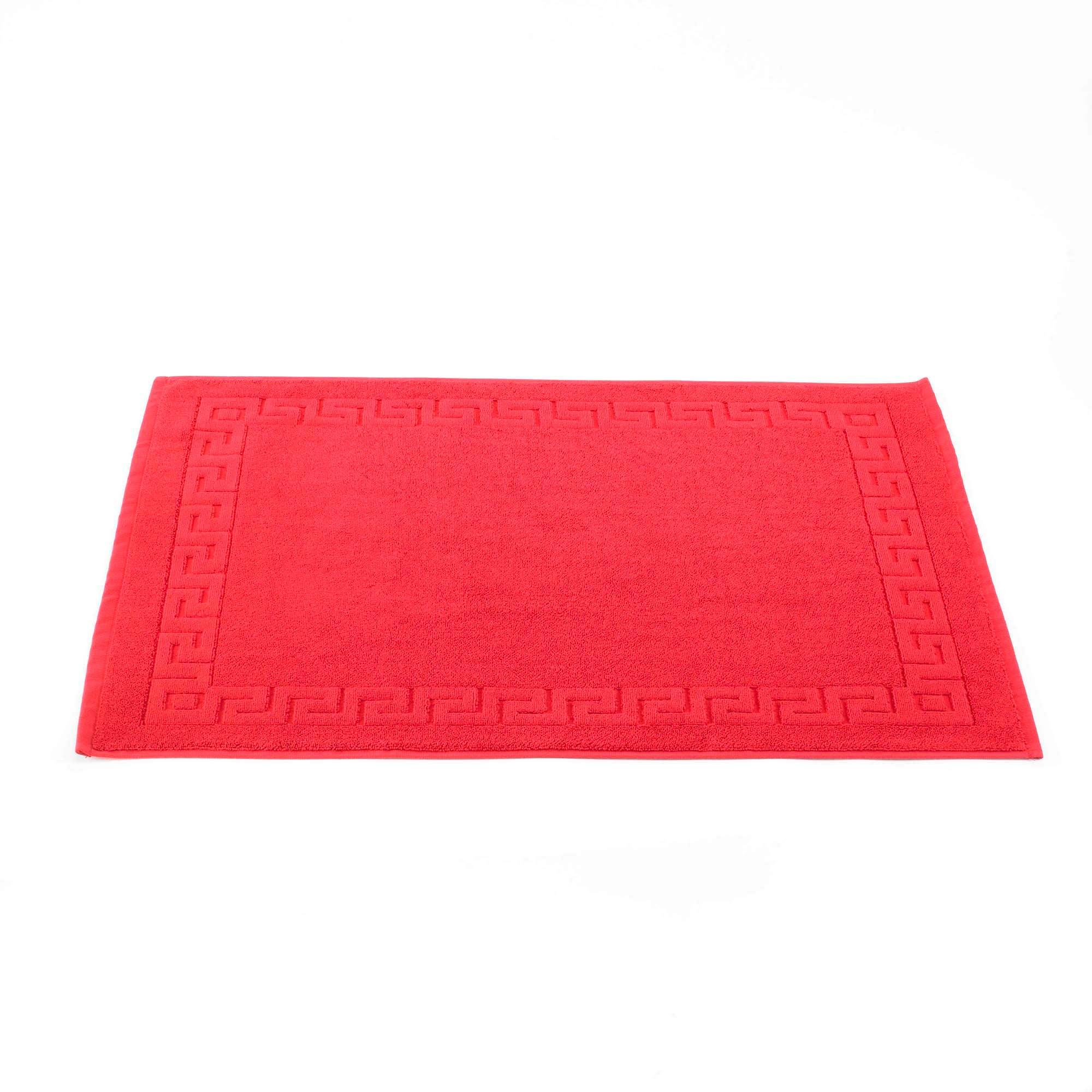 Photo of 100 egyptian cotton bath mat red