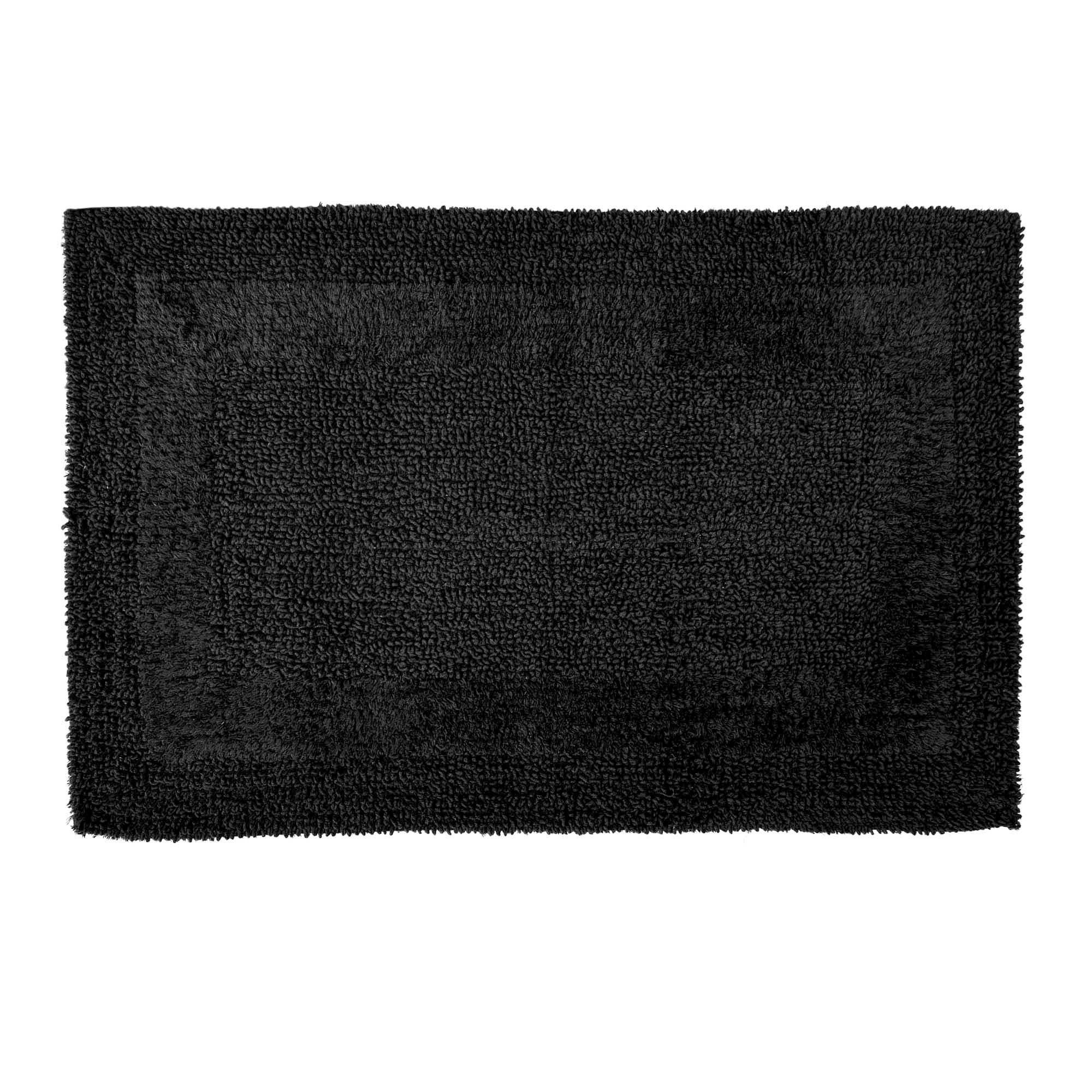 Photo of Super soft reversible bath mat black