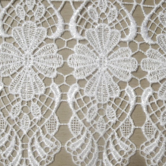 Macrame Cafe Lace Net Curtain Fabric White