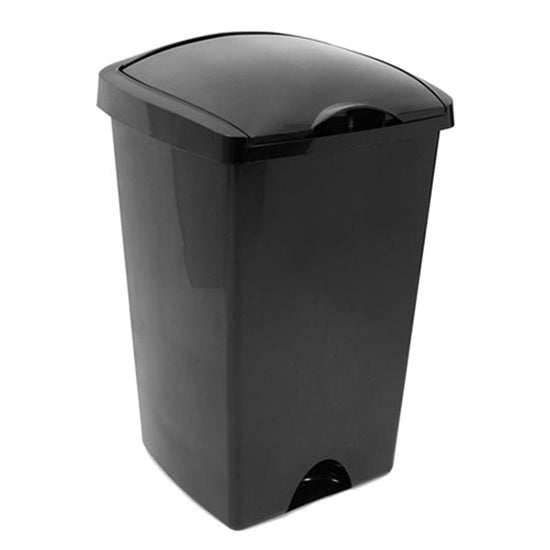 Addis Black Lift Top 48 Litre Bin Black