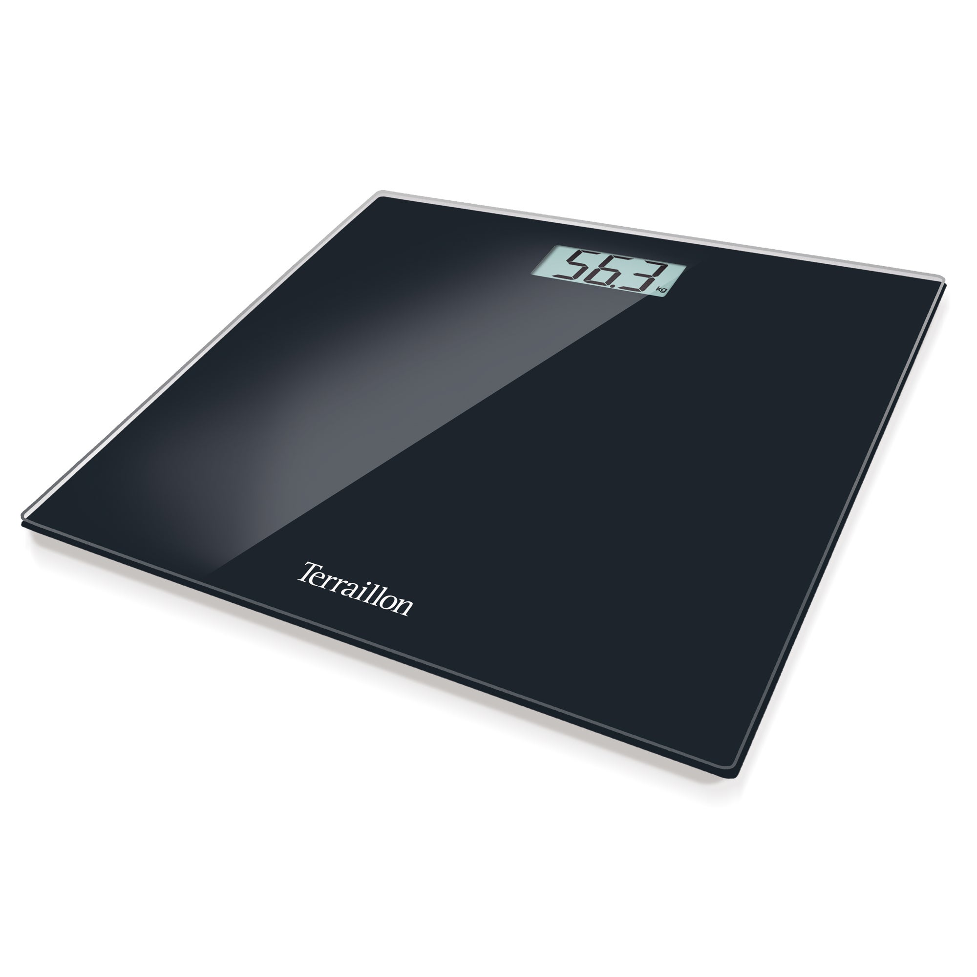 Image of Hanson HX6000 Slim Black Glass Electronic Scales Black