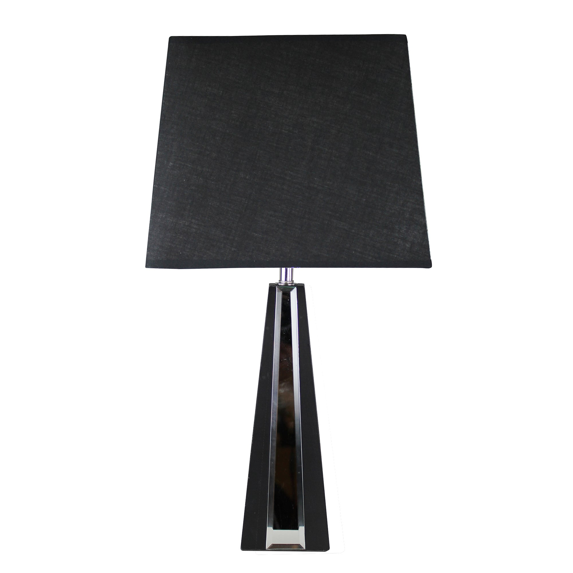 Photo of Pyramid mirror table lamp black