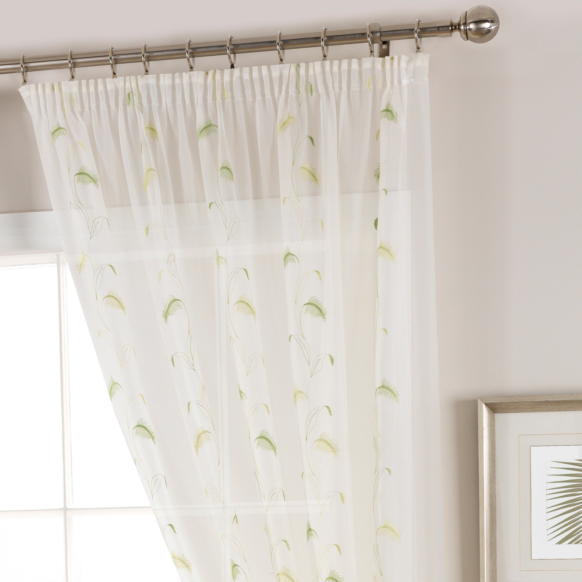 Photo of Pampas green voile panel green