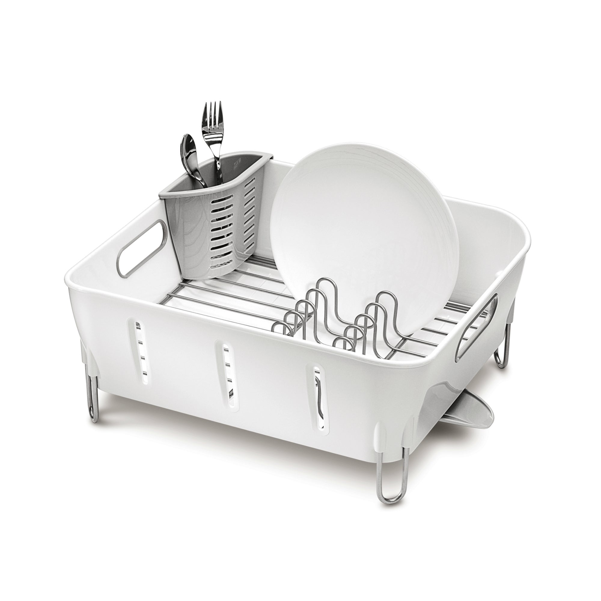 Photo of Simplehuman dish rack white