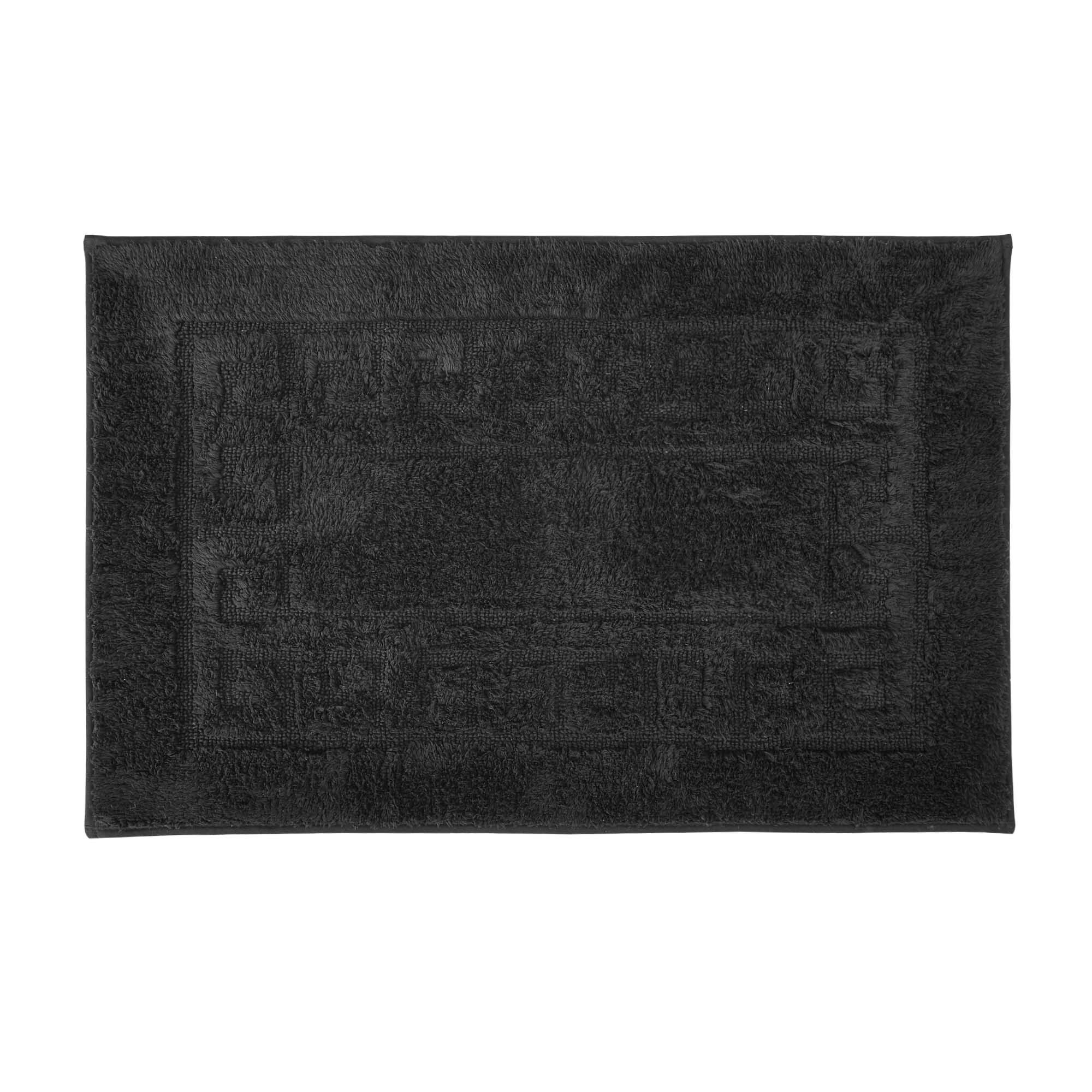 Photo of Luxury cotton non-slip bath mat black