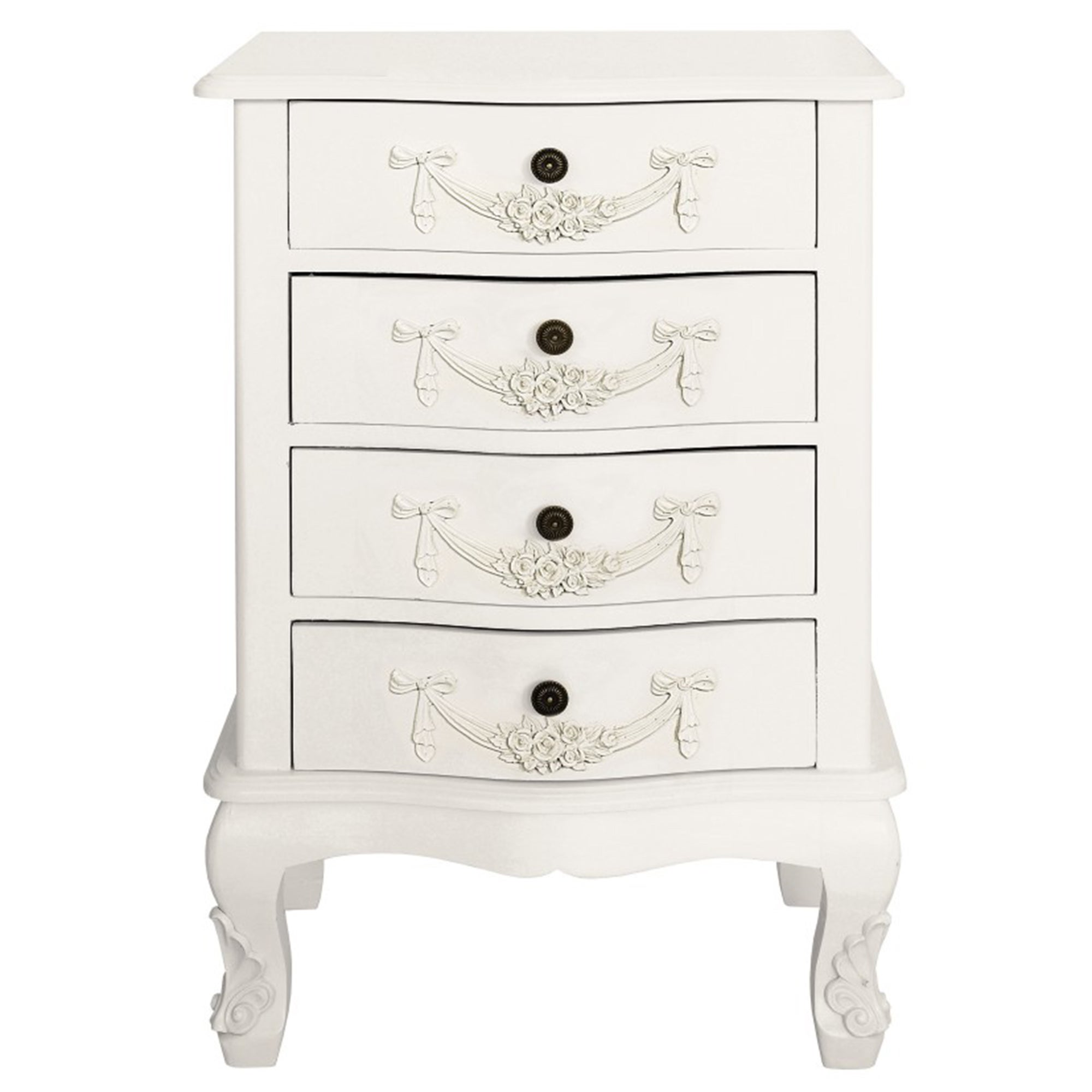 Photo of Toulouse white 4 drawer chest white