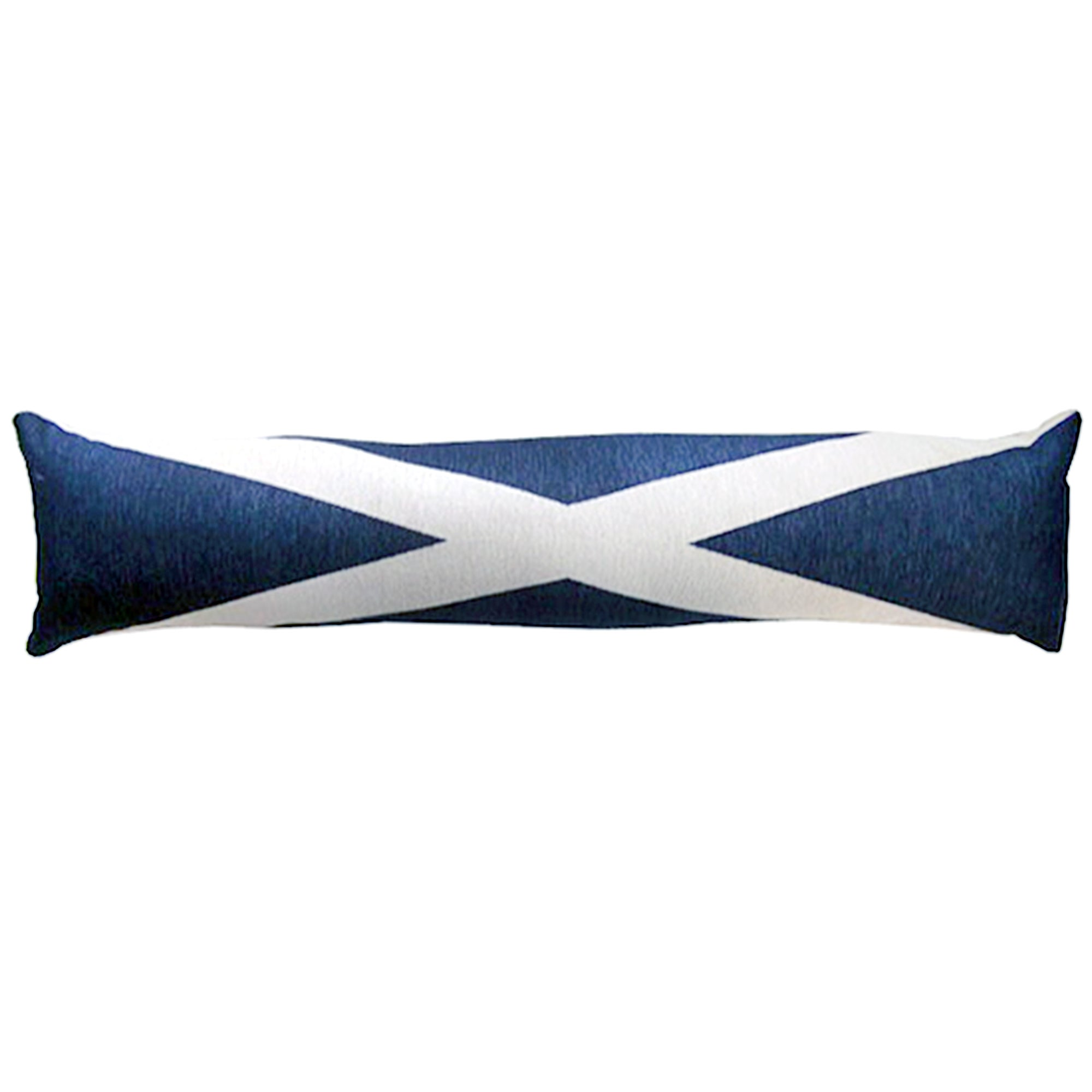 Vintage Scottish Draught Excluder Blue  White