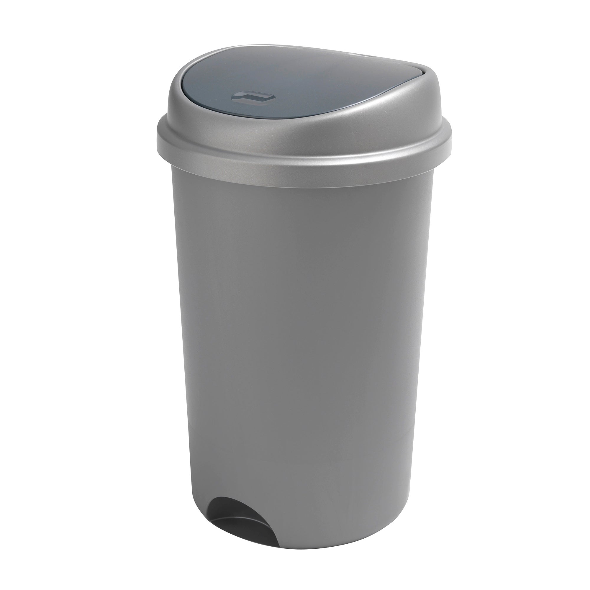 Addis Silver 50 Litre Press Top Bin Matt Silver